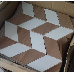 Love You White Half Mosaic Satin 29x29 мозаика для стен Opoczno