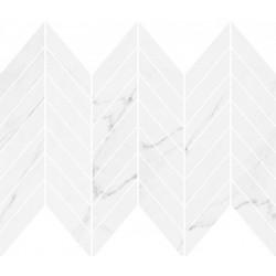 Marinel White Chevron Mosaic Glossy 29,8х25,5 мозаика для стен Opoczno