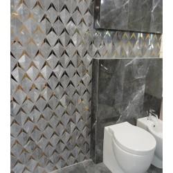 Brainstorm graphite Mozaika ścienna 23,1x19,6 мозаика для стен Tubadzin