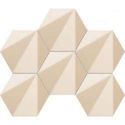 Chenille Beige Hex Mozaika 28,9x22,1 мозаика Tubadzin